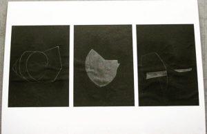 Graphite on black paper